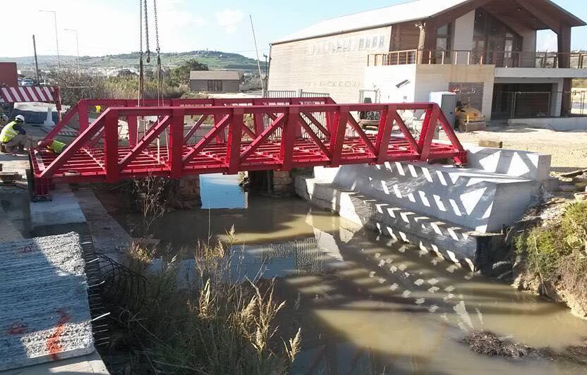 Fabrication of steel Bridge at Salini Salt Pans